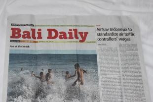 Vietējā avīze - Bali Daily