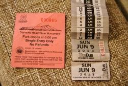 Diamond Head vizītes biļete un vietējā pilsēta autobusa biļete